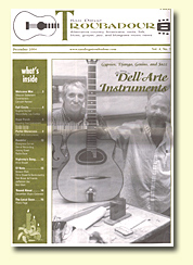 San Diego Troubadour issue featuring Dell' Arte Instruments
